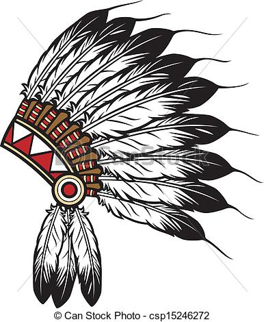 Indian Chief Headdress Clipart.