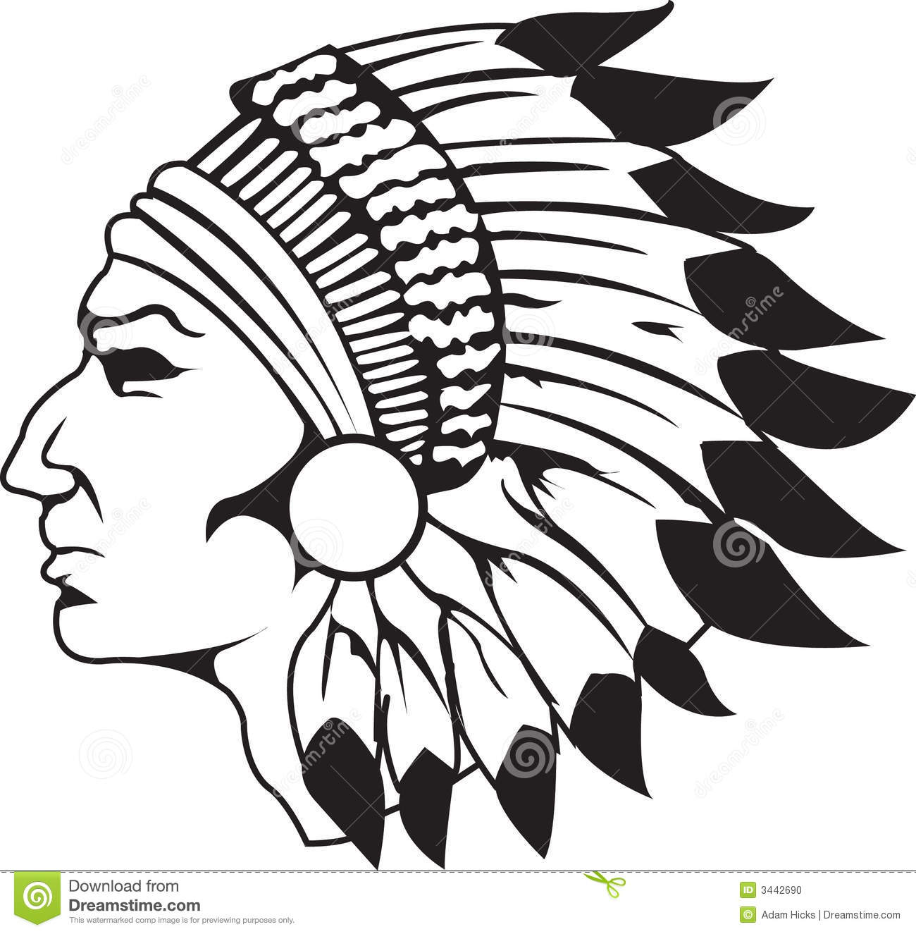 Indian Chief Clipart.