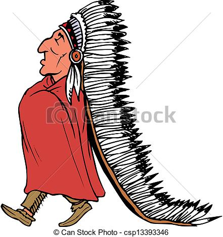 Indian chief Vector Clip Art Illustrations. 966 Indian chief.