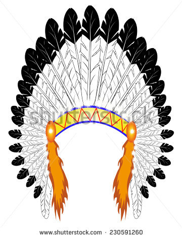 Native American Chief Man Tribal Headdress Stock Vector 184396637.