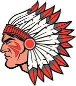 Indian Chief Headdress Clip Art, Vector Indian Chief Headdress.