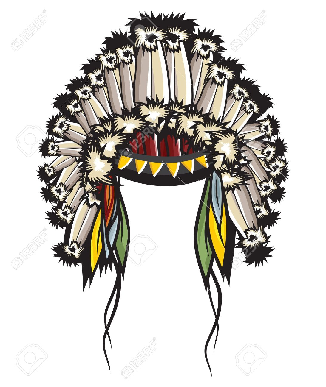 Indian Headdress Clipart.