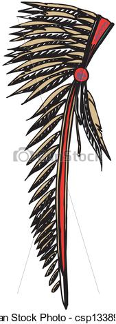 Vectors Illustration of American Indian Chief Headdress.