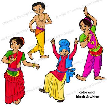 Indian Dancing Clip Art Kids.