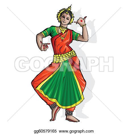Classical Indian Dance Clip Art.