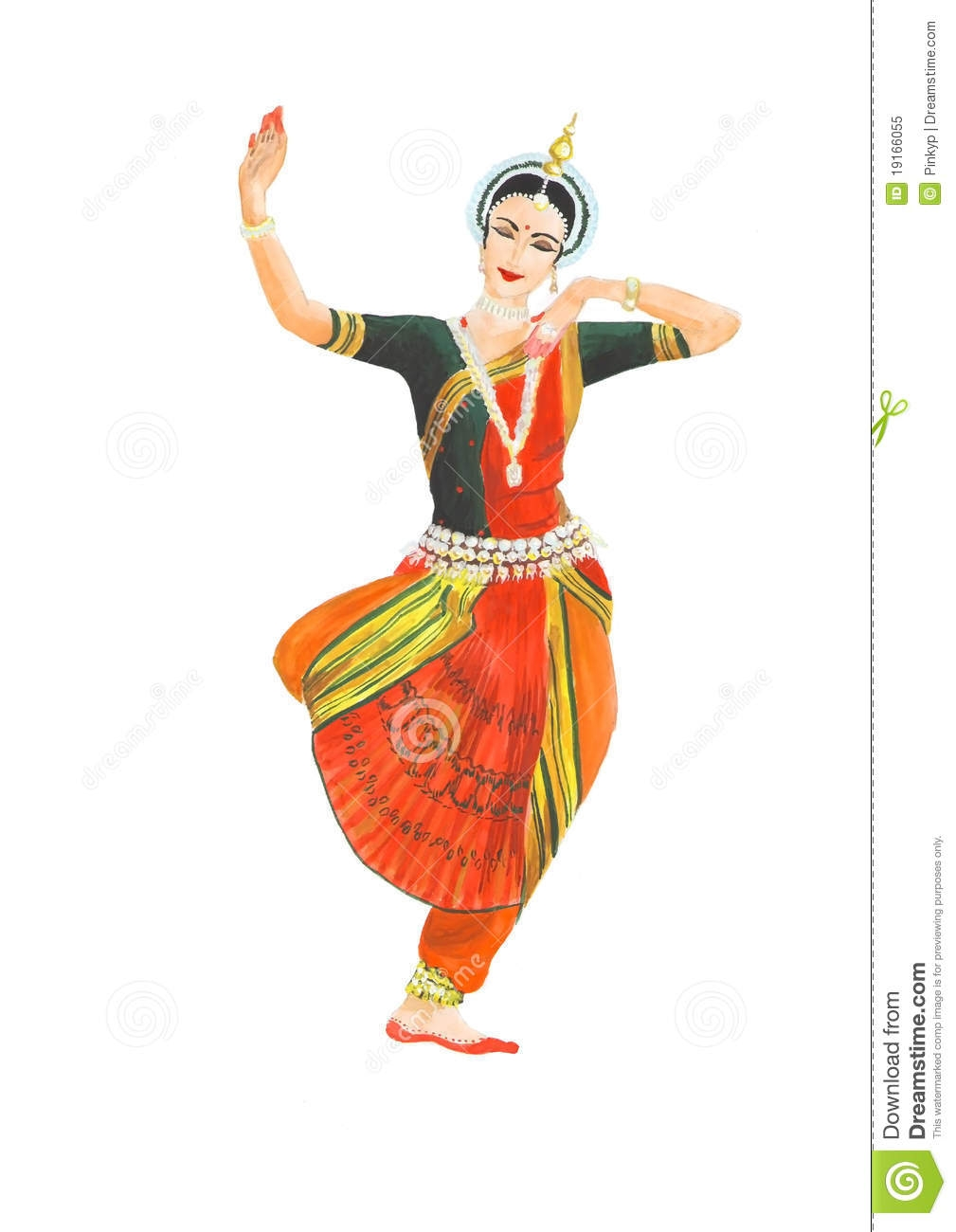 Indian Classical Dance Clipart.