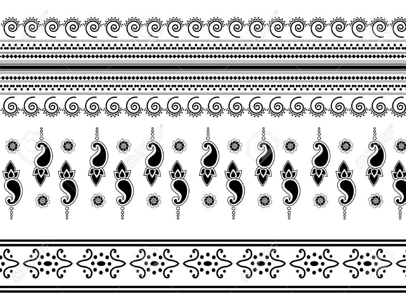 Indian art inspired henna borders.