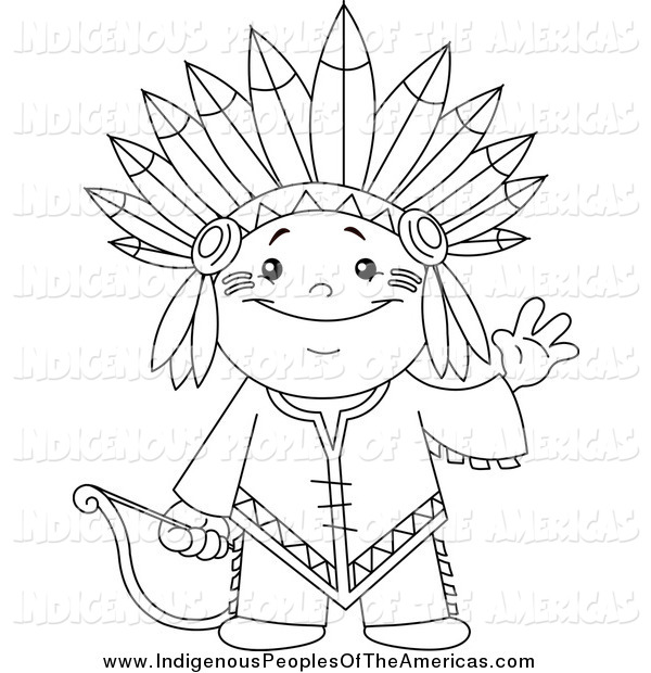 Native American Indian Clipart Black And White.
