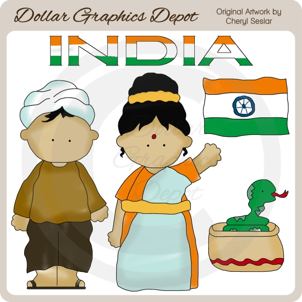 Indian Clipart Kids.