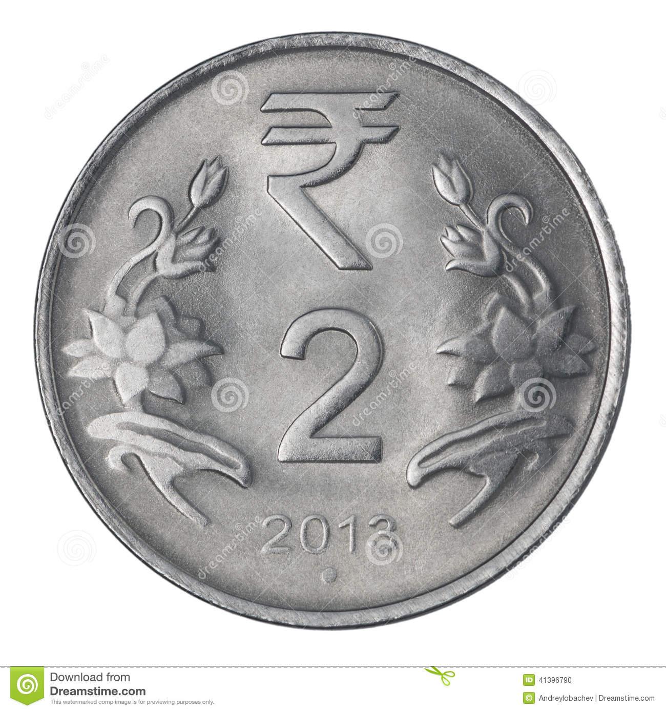 2 Rupee Coin Clipart.
