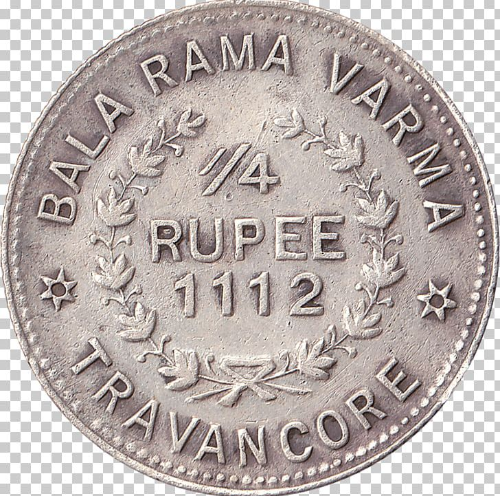 Kingdom Of Travancore Coins Of The Indian Rupee Quarter.
