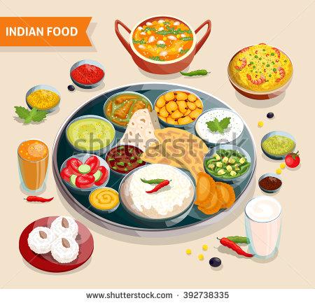 Indian Food Stock Photos, Royalty.