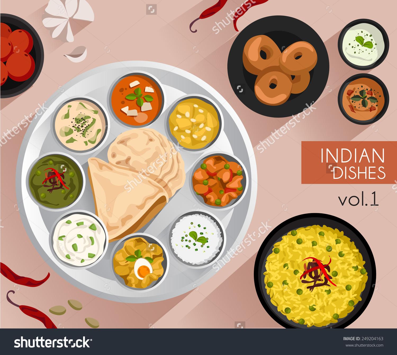 Indian cuisine clipart.