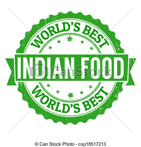 Vector Clip Art of Indian food stamp.