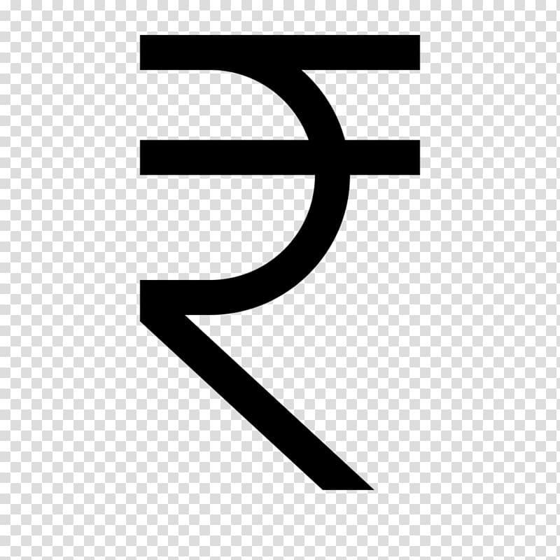 Indian rupee sign Currency symbol, symbol transparent.