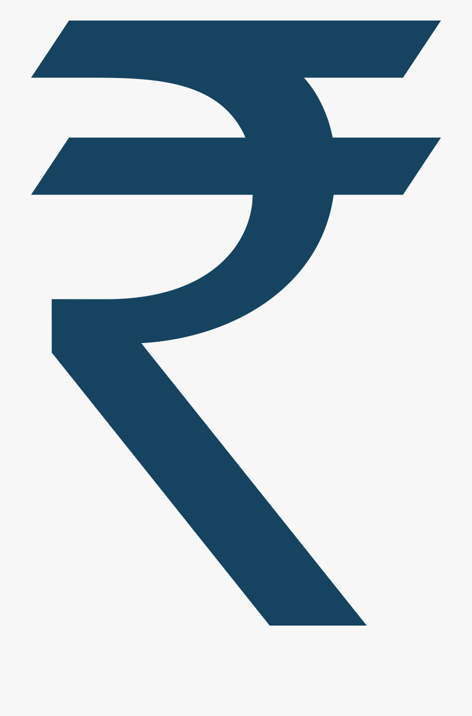 Indian Rupee Sign Currency.