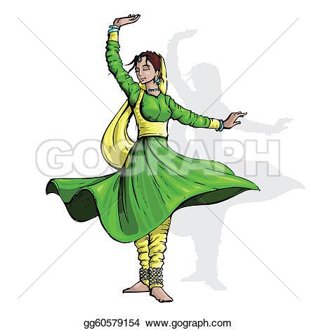 Indian Dance Clip Art.