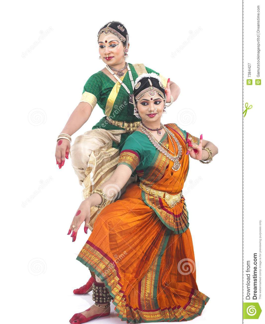 South indian dance clipart.