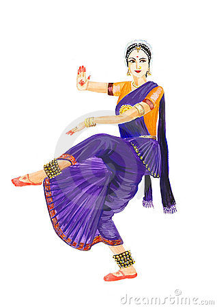 Indian dance clipart images.