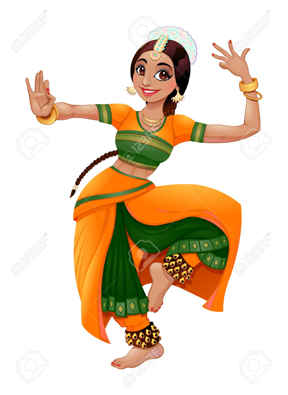 Indian Dancer. Royalty Free Cliparts, Vectors, And Stock.