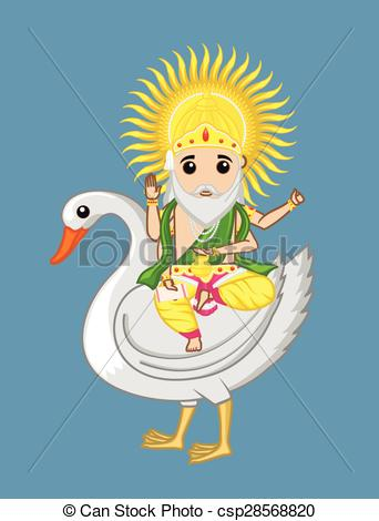 Vector Illustration of Vishwakarma.