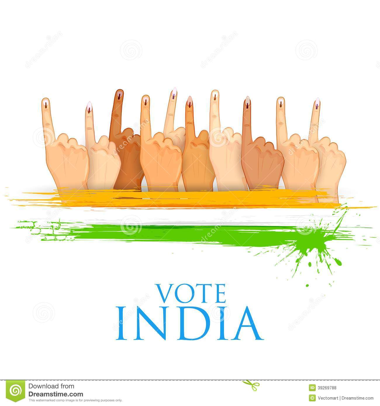 Voting In Indian Election Royalty Free Stock Photo.