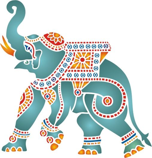 Indian elephant clipart indian perple.