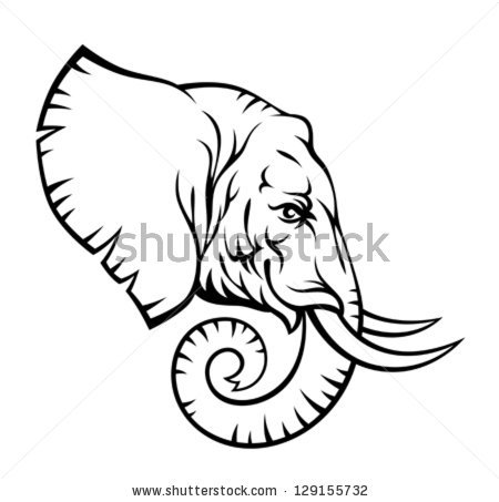 Indian Elephant Drawing.