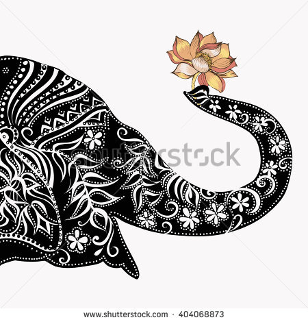 Elephantsilhouette Elephant Stock Vector 242140648.