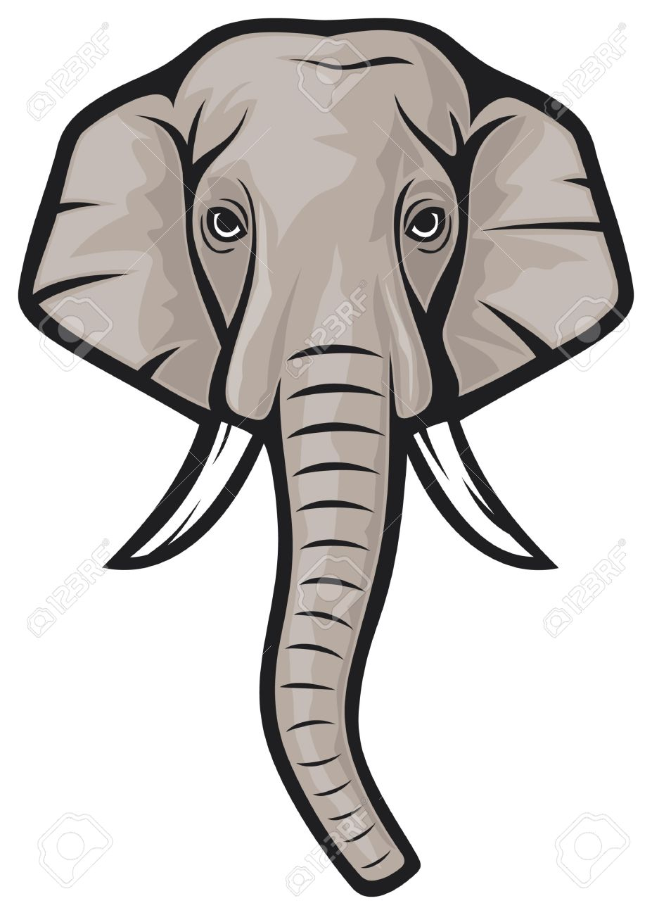 Elephant Head Indian Elephant Royalty Free Cliparts, Vectors, And.