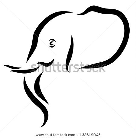 Indian elephant head stencil designs free vector download (2,556.