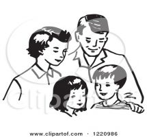Indian Family Clipart.