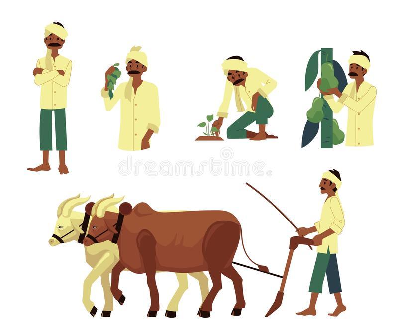 Indian Farmer Stock Illustrations.