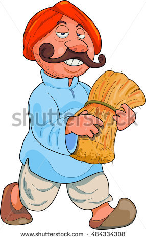 Indian Farmer Stock Images, Royalty.