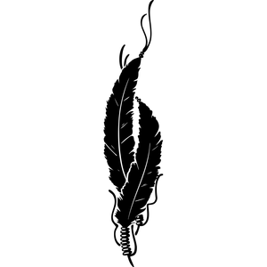Native Indian Feathers Clipart.
