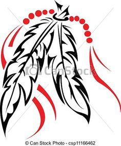 Tribal Feather Clip Art.