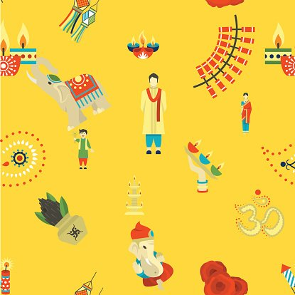 Indian Festival Background Clipart Image.