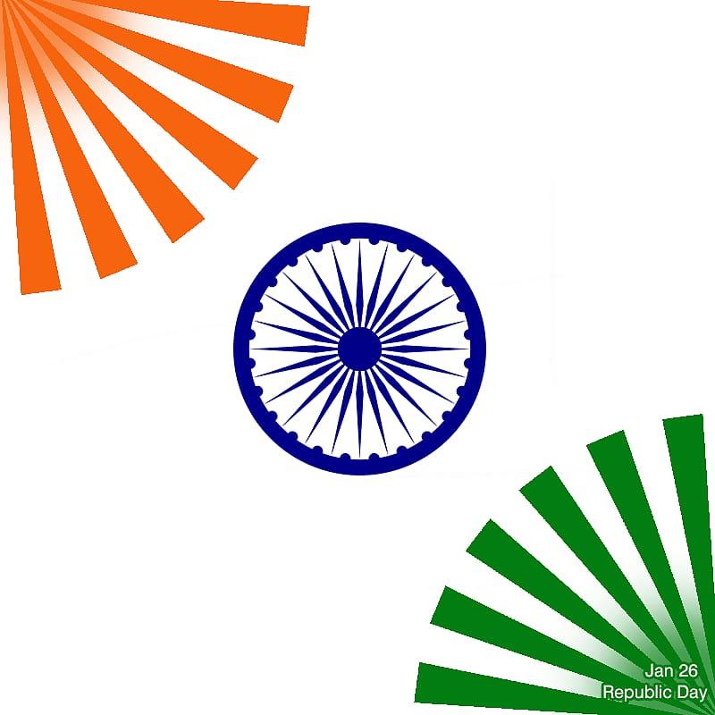 Abstract pattern illustration, Flag of India Ashoka Chakra National.
