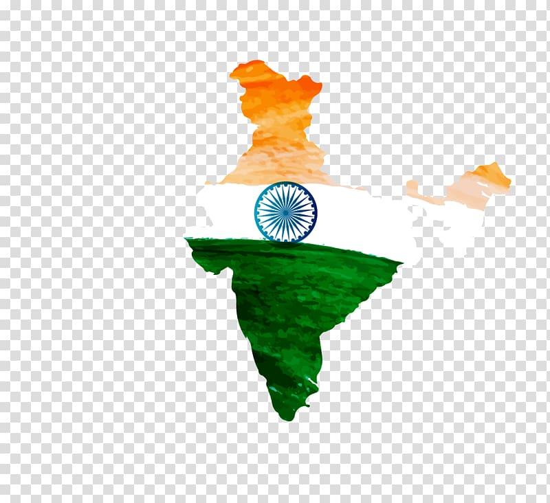 India flag illustration, Indian independence movement Flag.