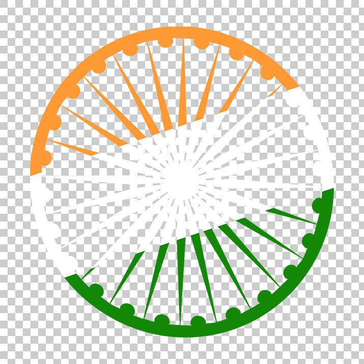 Ashoka Chakra with Indian Flag PNG Image Free Download searchpng.com.
