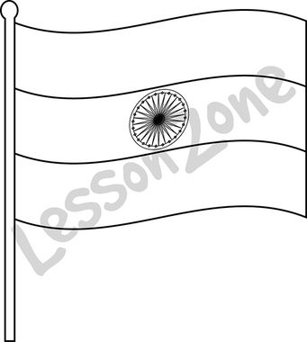 Indian flag clipart black and white 3 » Clipart Station.