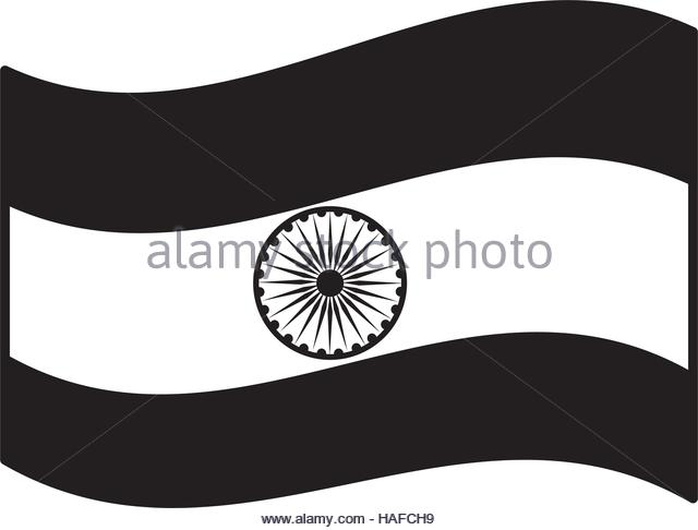 Indian flag clipart black and white 1 » Clipart Station.