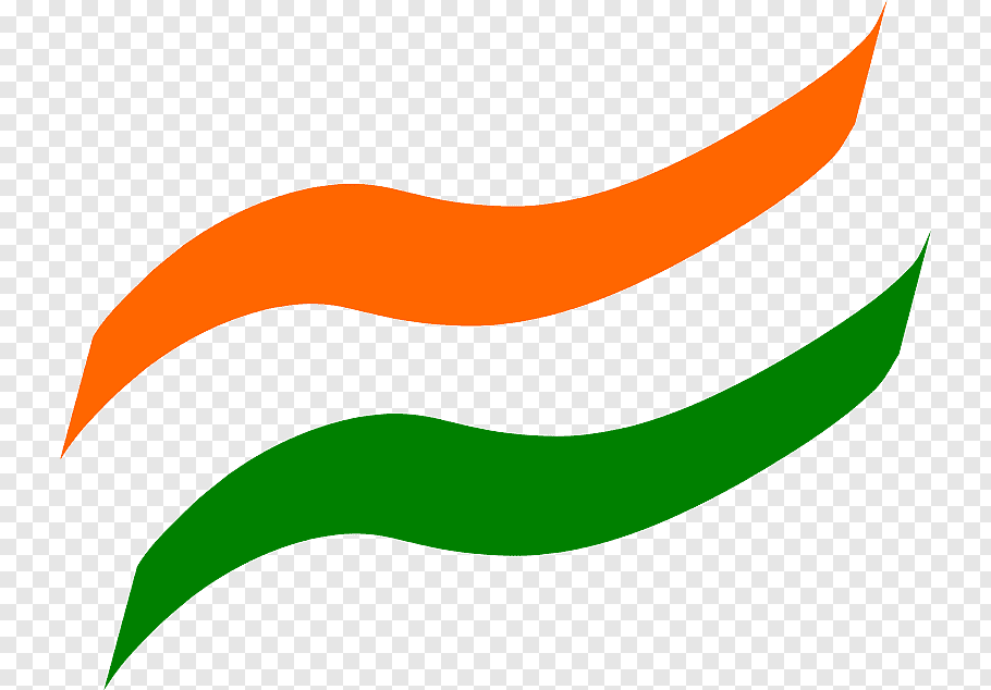 Green and orange logo, Flag of India PicsArt Studio, India.