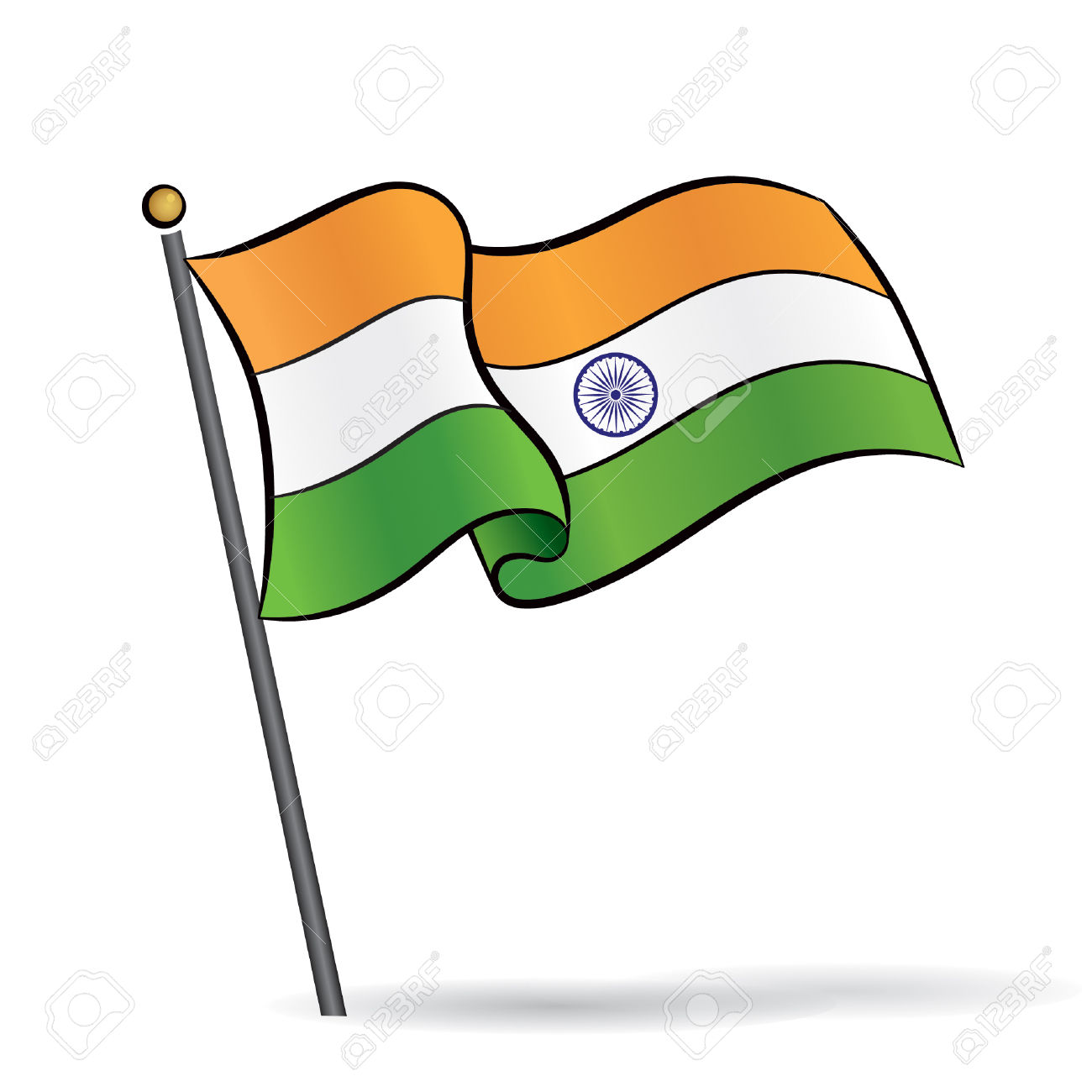 Indian flag clipart 5 » Clipart Station.