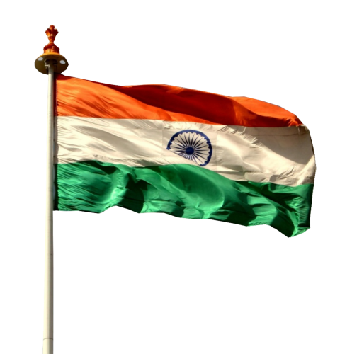 Indian Flag Flying free png download.