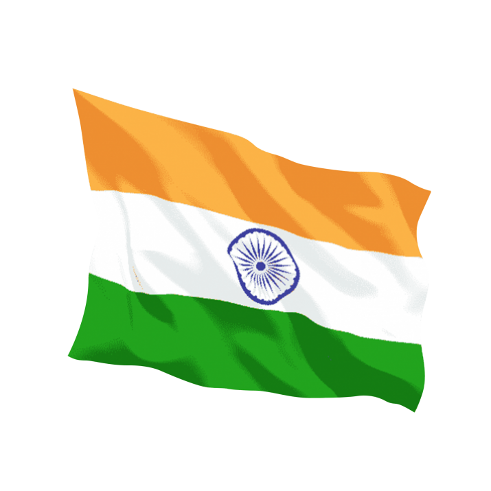 Free Indian Flag PNG.