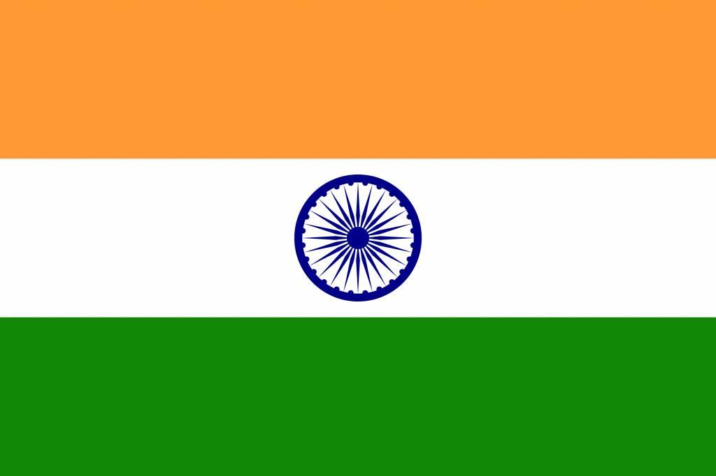 India flag icon.