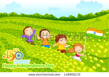 Indian National Flag Stock Images, Royalty.