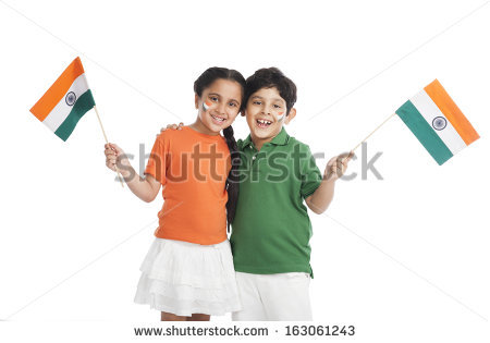 Indian Flag Stock Images, Royalty.