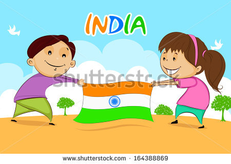 Indian Flag Cartoon Stock Images, Royalty.